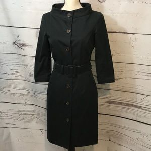 GRYPHON BLACK TRENCH COAT SIZE SMALL